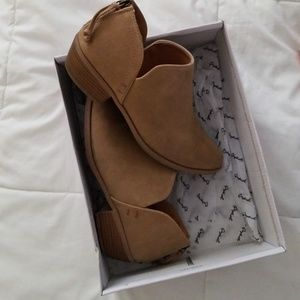 Qupid tan sueded booties. Size 8